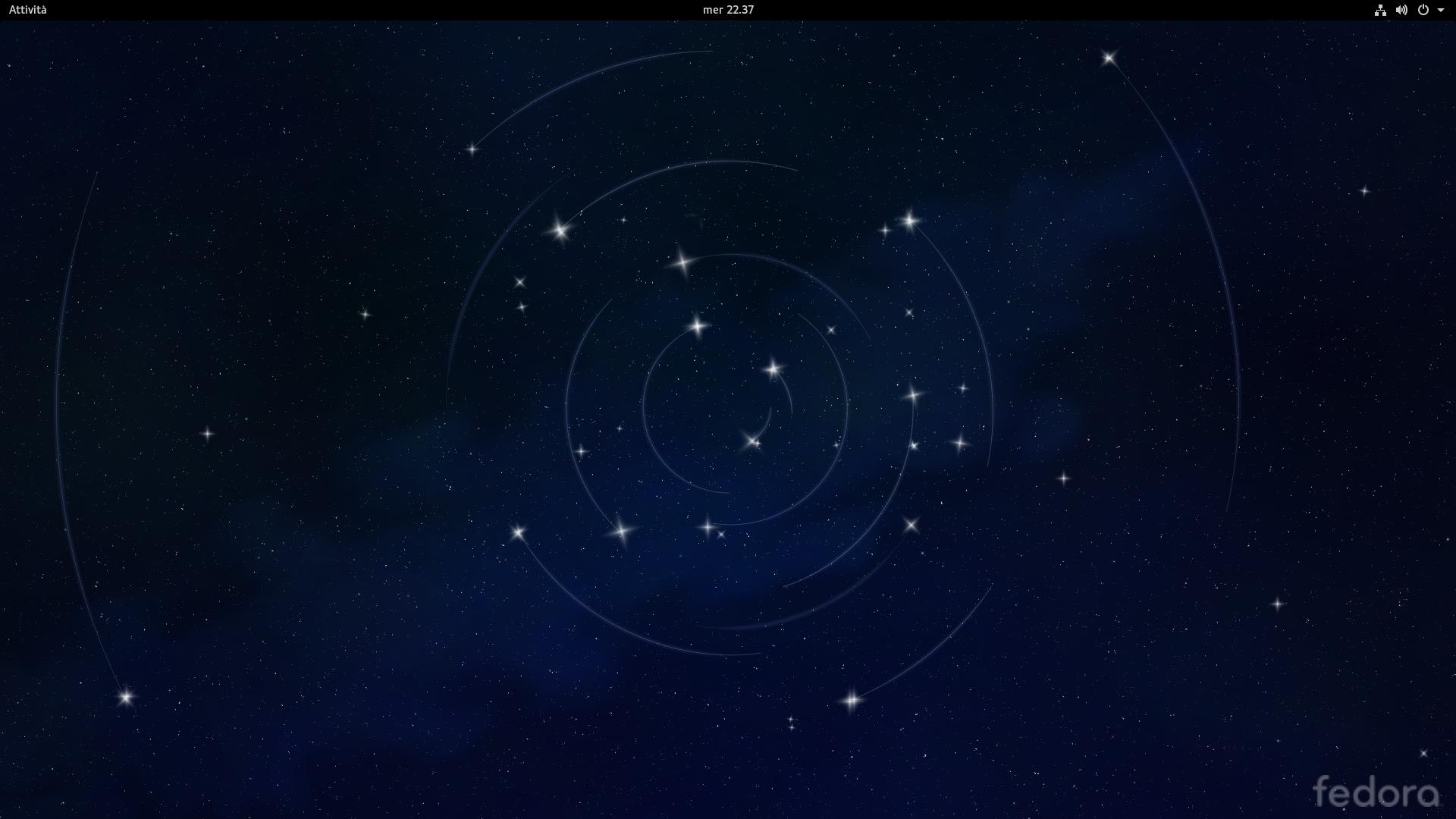 Desktop di Fedora 24 Alpha